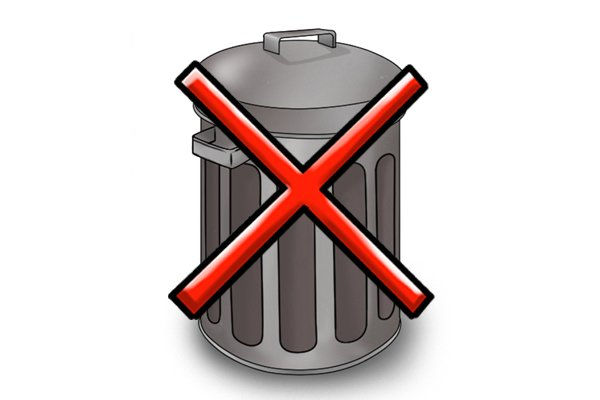 Don't put batteries in household waste due to explosion risk.