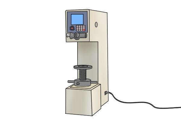 Hardness Rockwell tester HRC used to test blades of diagonal side cutting pliers, nippers, wire cutters.