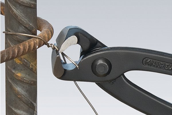 Concretor's nippers are an alternative to diagonal side cutting pliers, nippers, cutters.