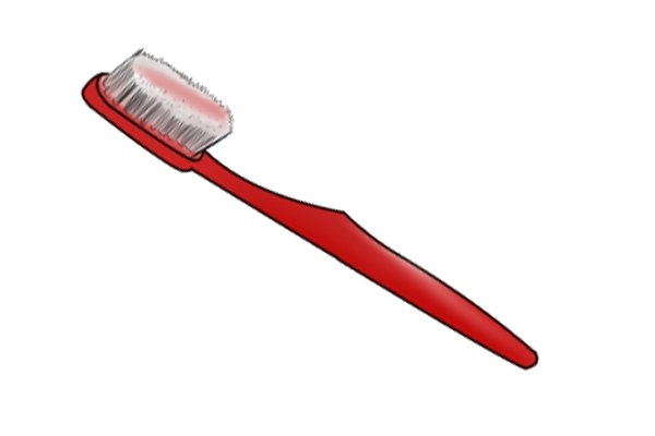 A toothbrush can be used to remove rust from diagonal side cutting pliers, nippers, wire cutters.