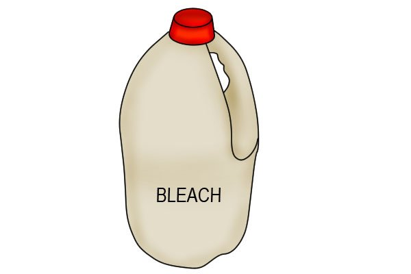 Bleach can be used as a cleaning agent with pipe cleaning brushes (AKA tube, twisted or interior brushes)