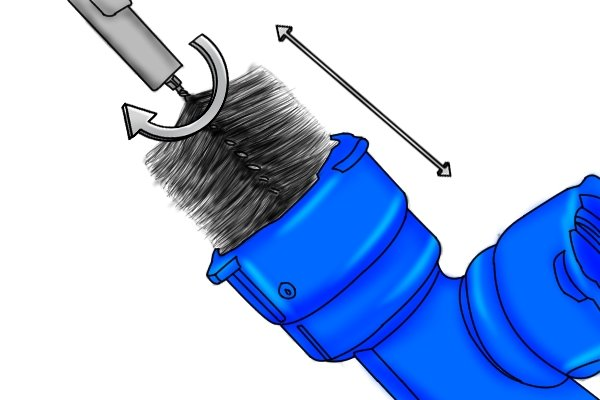 How to use a pipe-cleaning brush