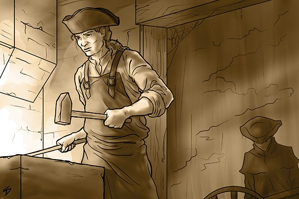 Blacksmiths would have made the first nuts, bolts, fasteners and spanners.