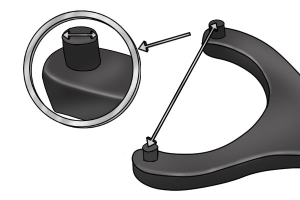 Pin spanner measurements are the diameter of the pins and the distance between them.