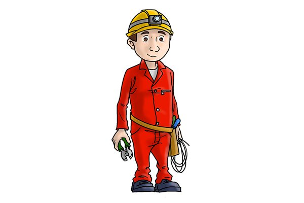 Electricians use VDE European standard insulated spanners to ensure they don't get an electric shock.