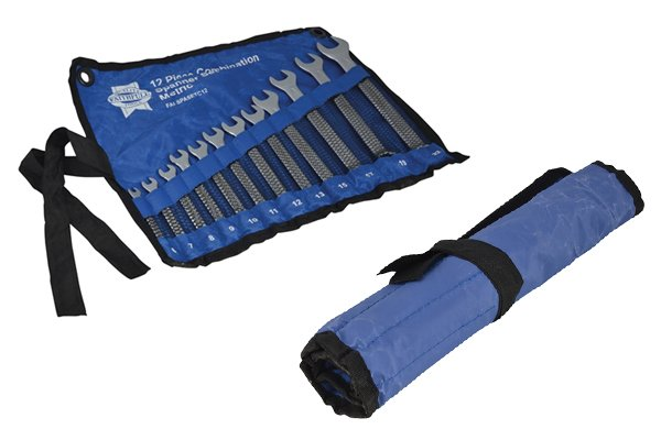 Tool rolls keep spanners in order so they are accessible, stored well and easy to find.