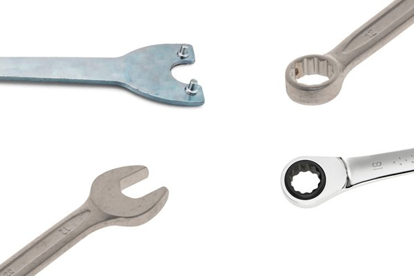 Different types of spanners.