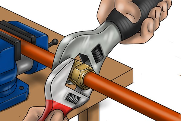 Using adjustable spanners or monkey wrenches as an alternative to spanners.