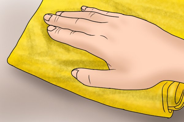 A clean cloth should be used to remove dust and dirt.