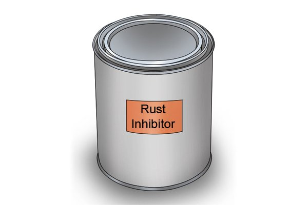 Rust inhibitor is used to coat the tool to protect is from corrosion.