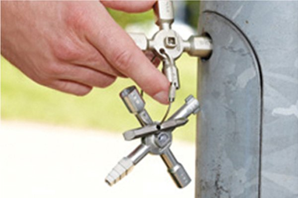Utility and control or service cabinet keys can be used for lots of different locks, valves and switches.
