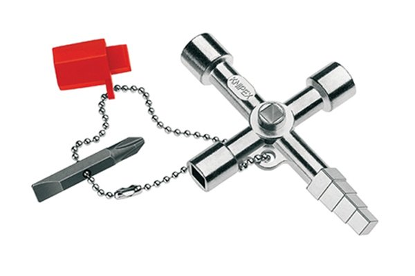 A loop allows the accessories to be attached to the utility and control or service cabinet key