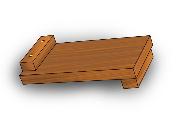 Left- and right-handed bench hook with two raked faces