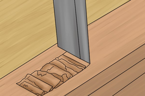 Chiselling vertically