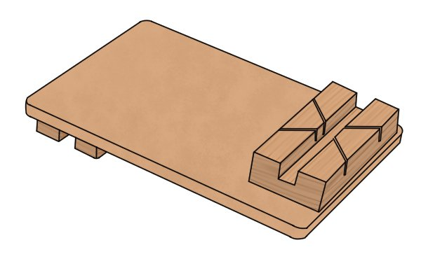Mitre bench hook with groove