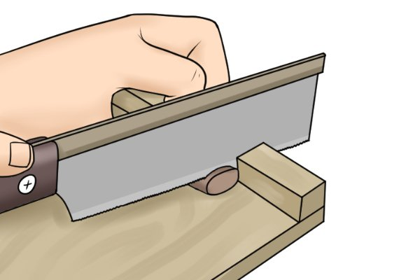 With a pull saw, the backwards cutting action tends to pull the workpiece away from the stop.