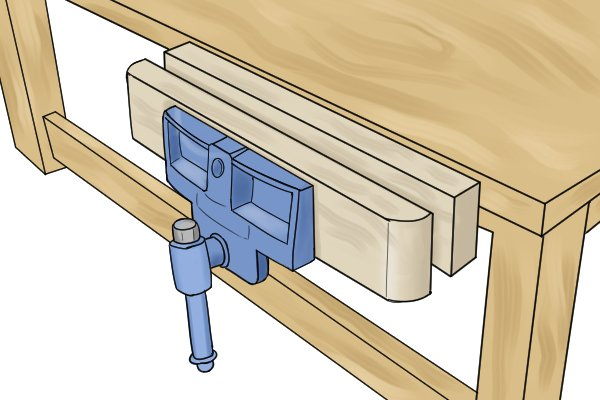 Workbench woodworking vice