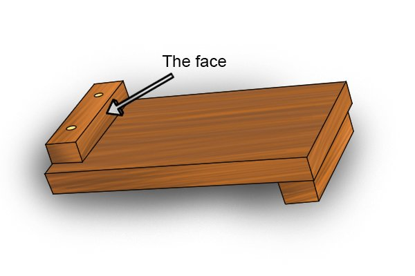 The face of a bench hook stop