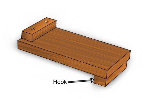 Hook of a bench hook