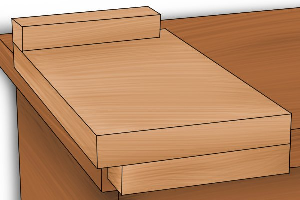 Reversible bench hook for left- or right-handed use