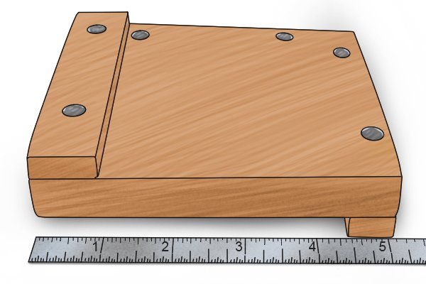 Small bench hook five inches long