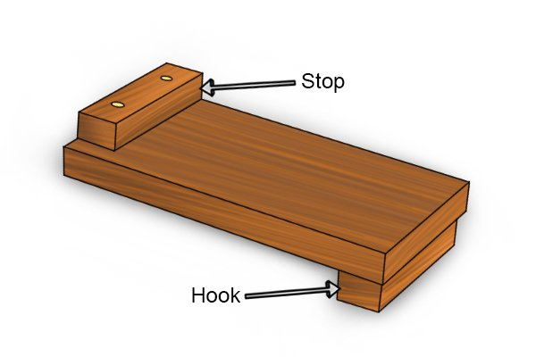 Bench hook stop and hook