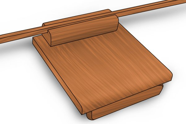 double-sided bench hook and mitre box for right- and left-handed use