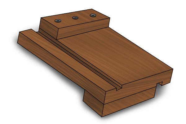 Bench hook with cutting groove