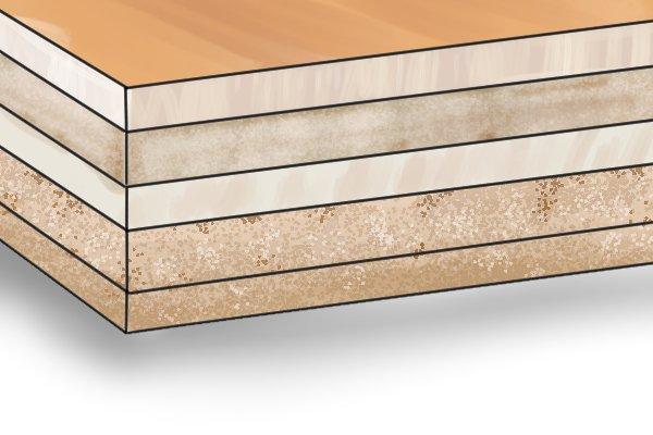 Plyboard base of bench hook