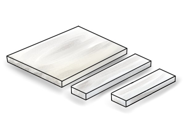 Preparing the parts of a bench hook including MDF base