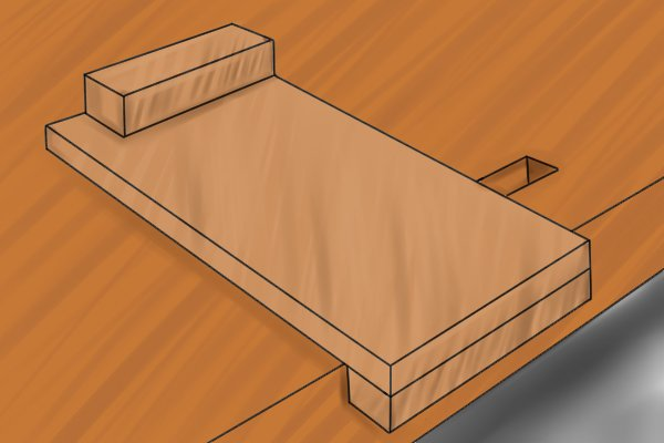 Hardwood bench hook