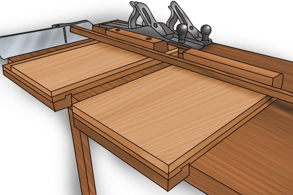 Two bench hooks and tenon saw