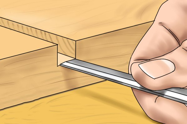 Chiselling out a housing joint recess