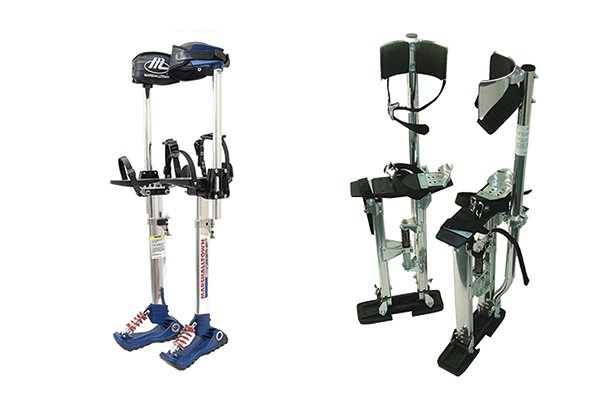 plasterers stilts different sizes, dura stilts skywalkers, poles strut tubes, wonkee donkee DIY guide