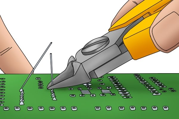 Side cutters are precise enough that they can be used for cutting wires on circuit boards