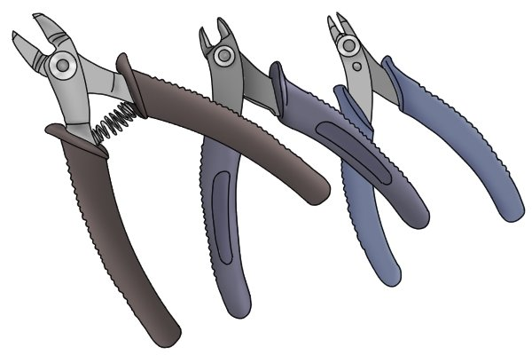 Wire cutters come in different sizes to suit different purposes