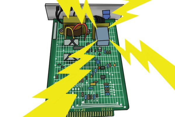A sensitive component like a semiconductor can be damaged by an electrostatic discharge if a wire is cut with an uninsulated cutter