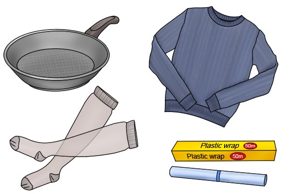 Woolly jumpers have higher triboelectric ratings than teflon pans