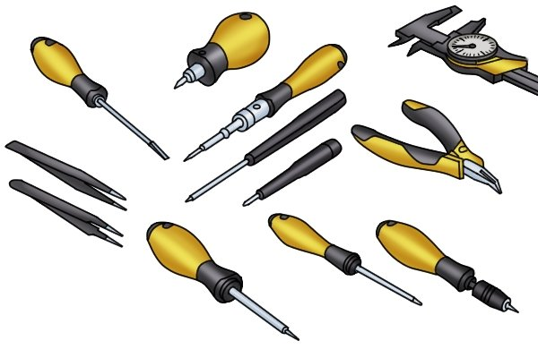 A range of ESD-safe tools