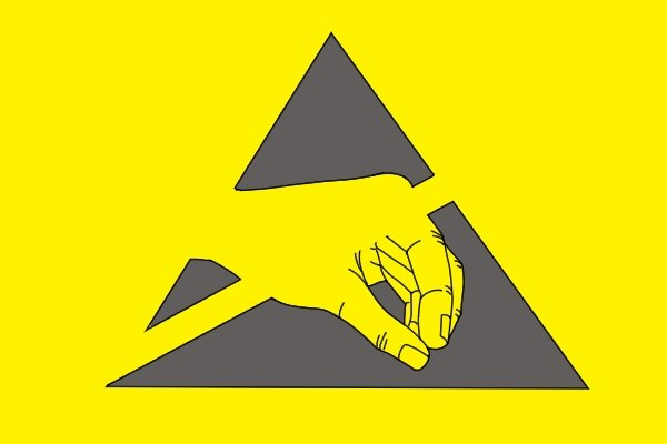 The international symbol for electrostatically sensitive devices or environments
