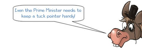 Wonkee Donkee says that even the Prime Minister needs to keep a tuck pointer handy!