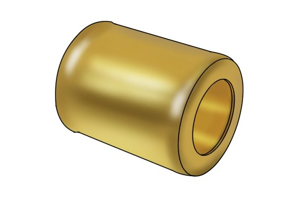 A brass ferrule that might be used on a tuck pointer