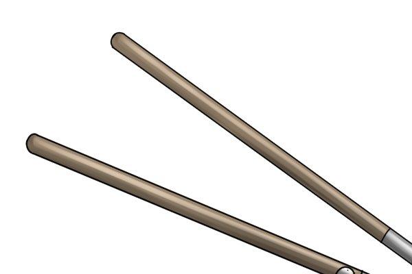 Wooden edging shear handles