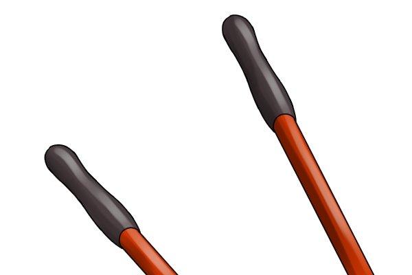 Rubber grips on edging shear handles