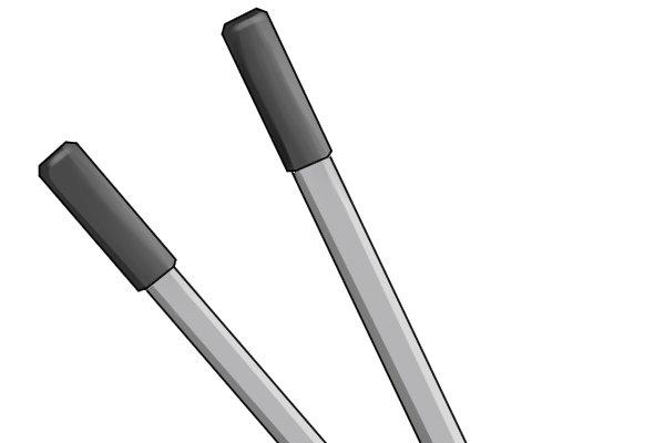 Edging shears with aluminium handles