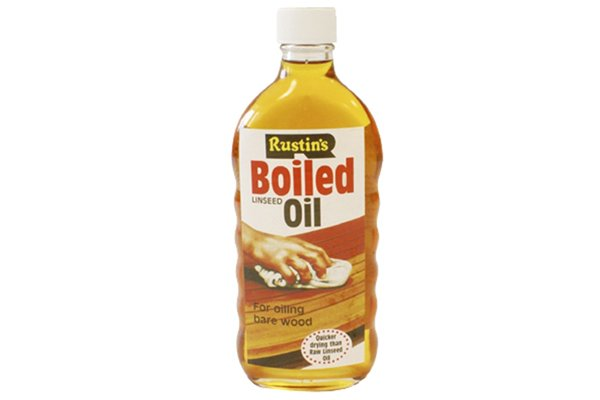 Bottle of boiled linseed oil