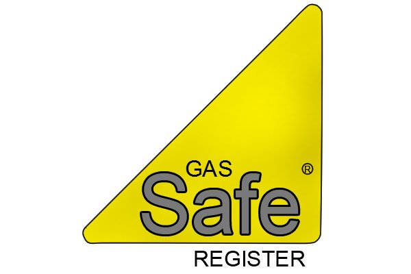 Official Gas Safe logo - yellow and black triangle