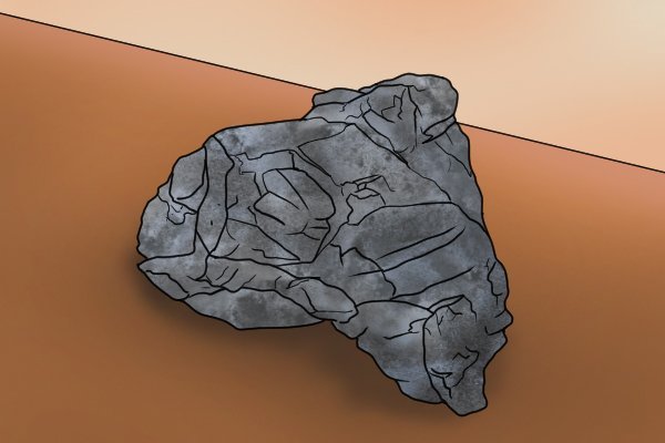 Lump of die cast zinc