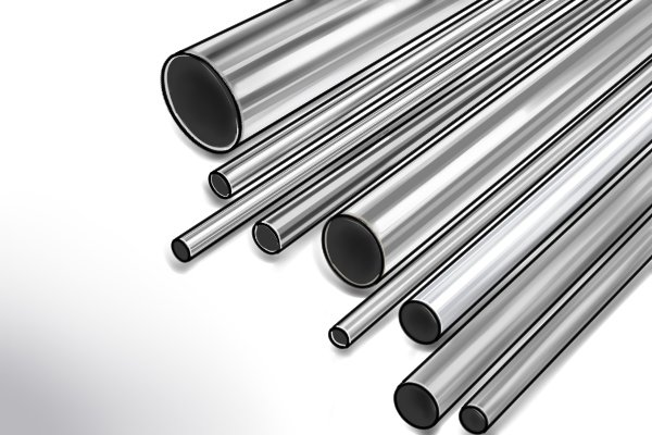 Pile of stainless steel pipes