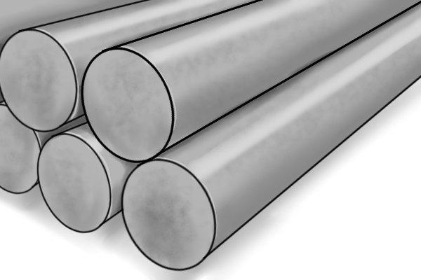 Pile of aluminium pipes